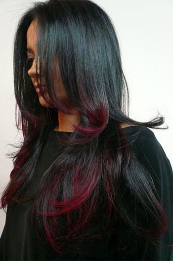 Stunning hairstyle black hair with red highlights glueless lace stunning hairstyle black hair with red highlights glueless lace front wigs pmusecretfo Images