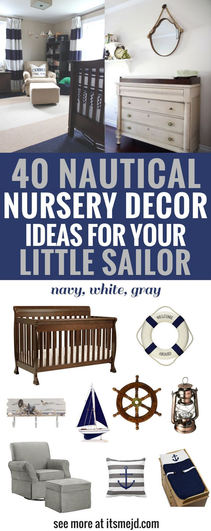 40 Nautical Nursery Decor Ideas for Your Little Sailor | Pinterest