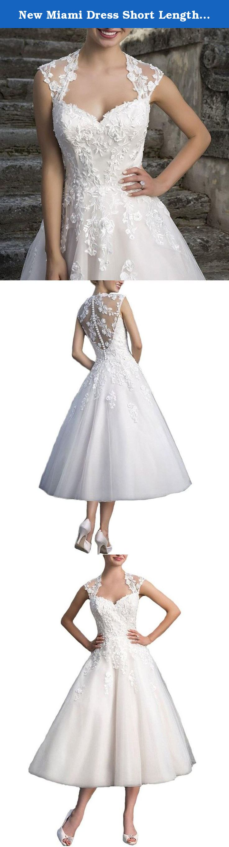 New miami dress short length strap ball gown wedding dresses for