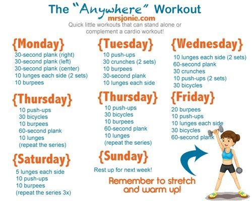 The Anywhere Workout #exercise #workout