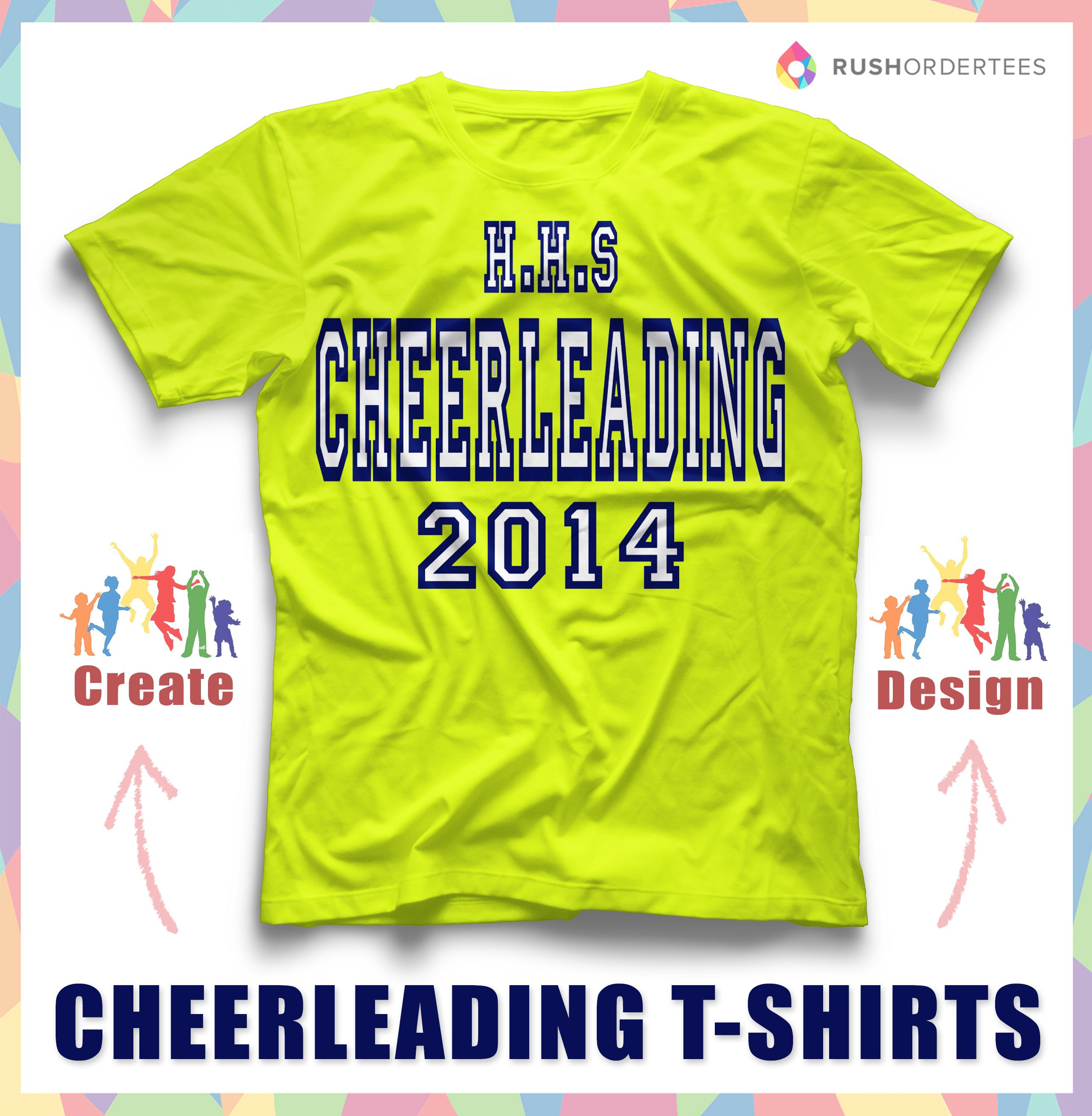 Cheerleading Custom T Shirt Design Idea! Create One For Your Cheerleading  Squad! Www