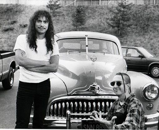 Kirk Hammett and Les Claypool 1991 Les claypool, Kirk