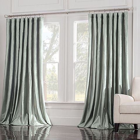 Valeron Estate 84 Inch Silk Double Width Window Curtain Panel In