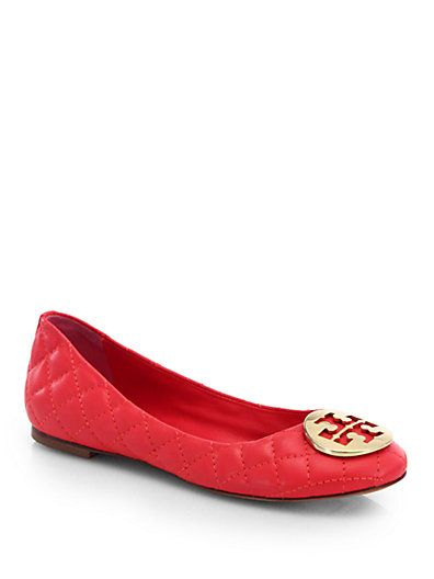 66447c7ec866 Tory Burch - Quinn Quilted Leather Ballet Flats - Saks.com