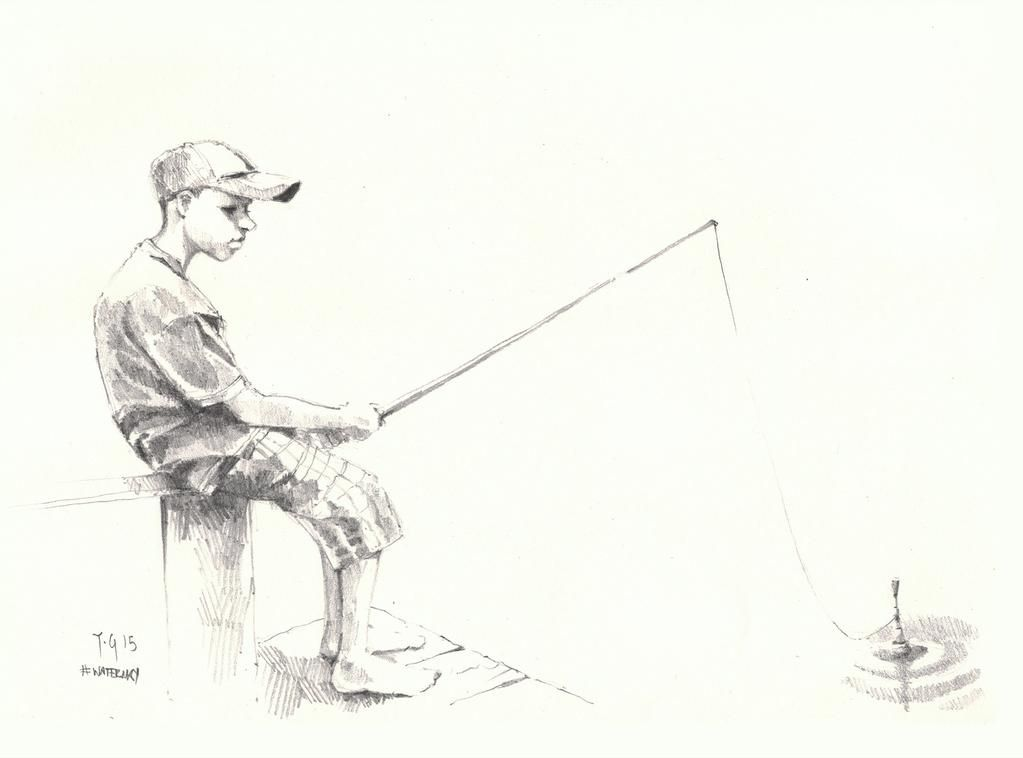 Anthony Greentree On Sketches Fly Fishing Art Nature Sketch