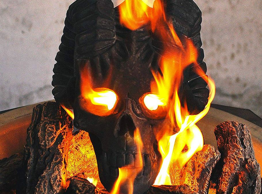Myard Fireproof Demon Fire Pit Skull Fire pit, Outdoor