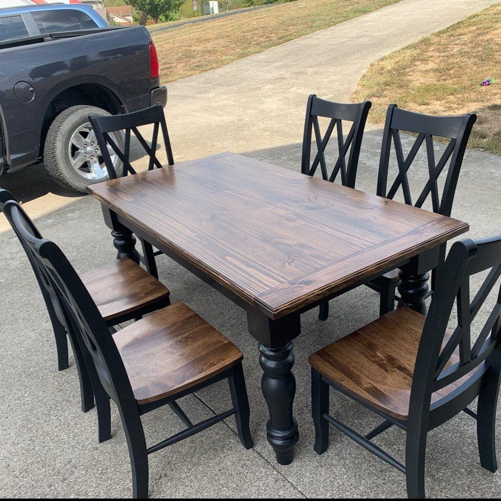 Chunky Unfinished Hardwood Farmhouse Dining Table Legs Set of ...