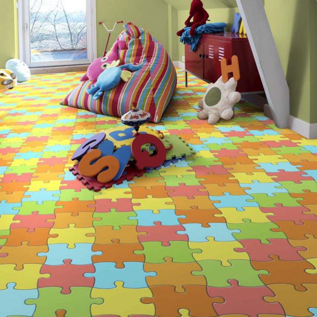 Kids Bedroom Vinyl Flooring this 1601 jigsaw multicoloured vinyl flooring is a great addition