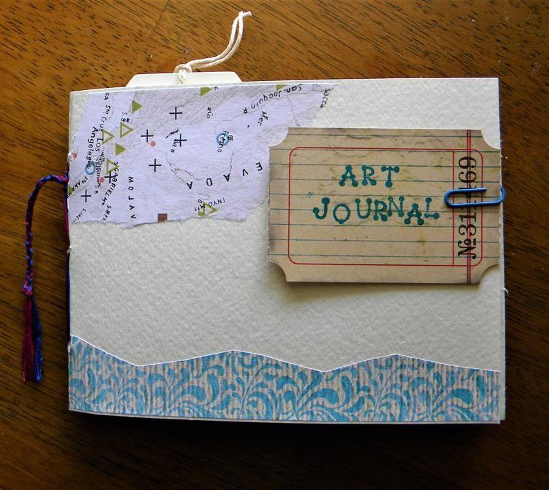 Mini Art Journal Junk Journaling Art Journal Pages Handmade