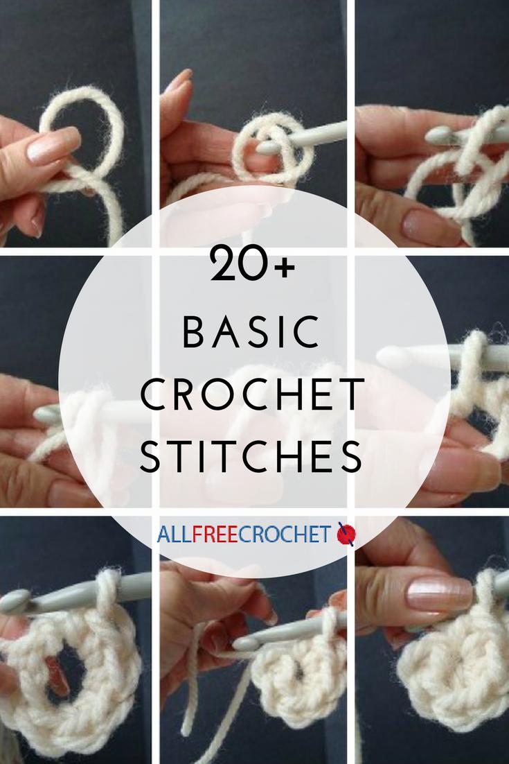 20 Basic Crochet Stitches Beginner Crochet Projects Crochet Stitches For Beginners Crochet Basics