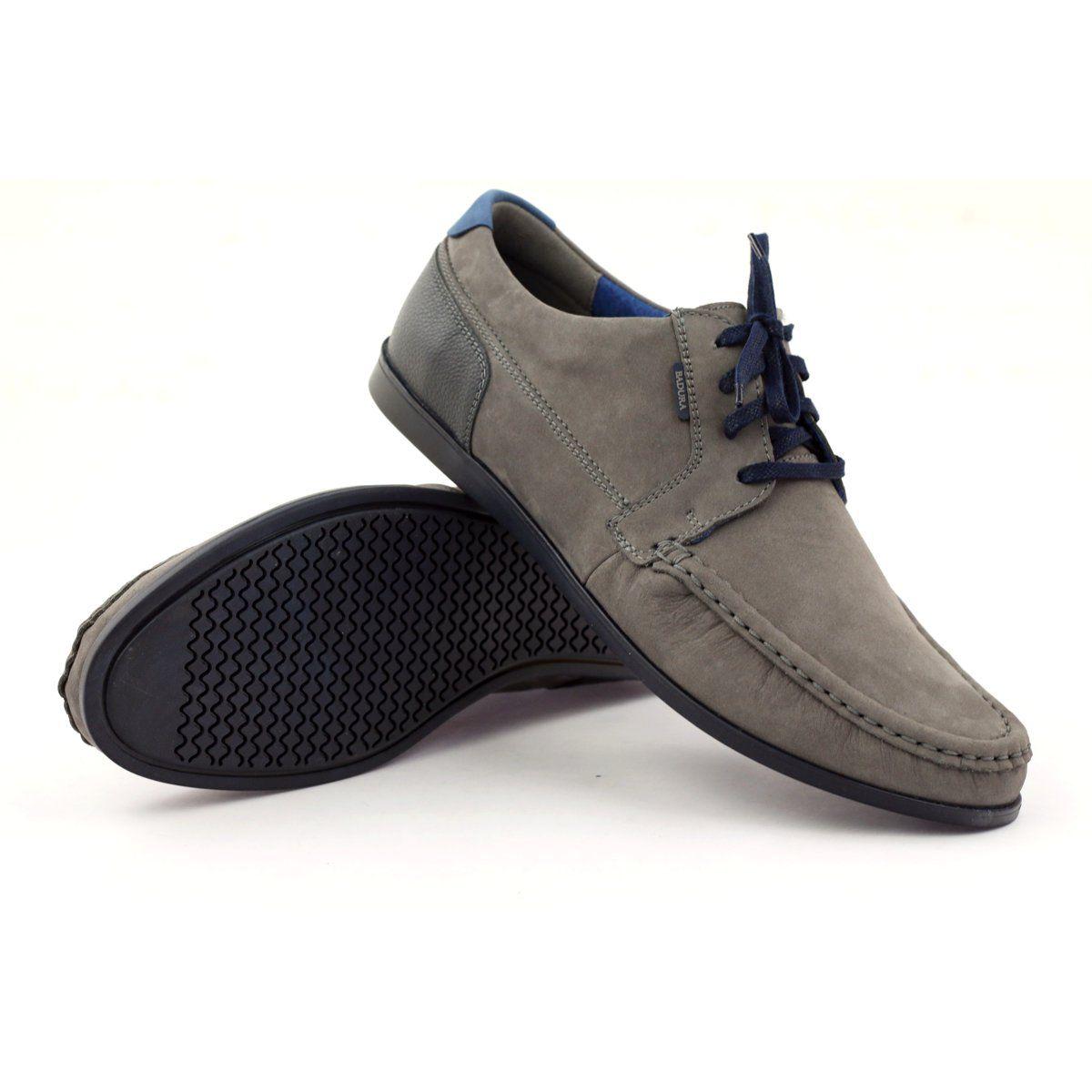 Badura 3175 Gray Sports Shoes Blue Grey Navy Dress Shoes Men Blue Shoes Shoes