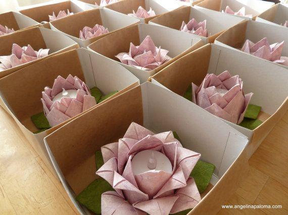 10 Origami Lotus Lanterns Lavender Pink Gift By Angelinapaloma