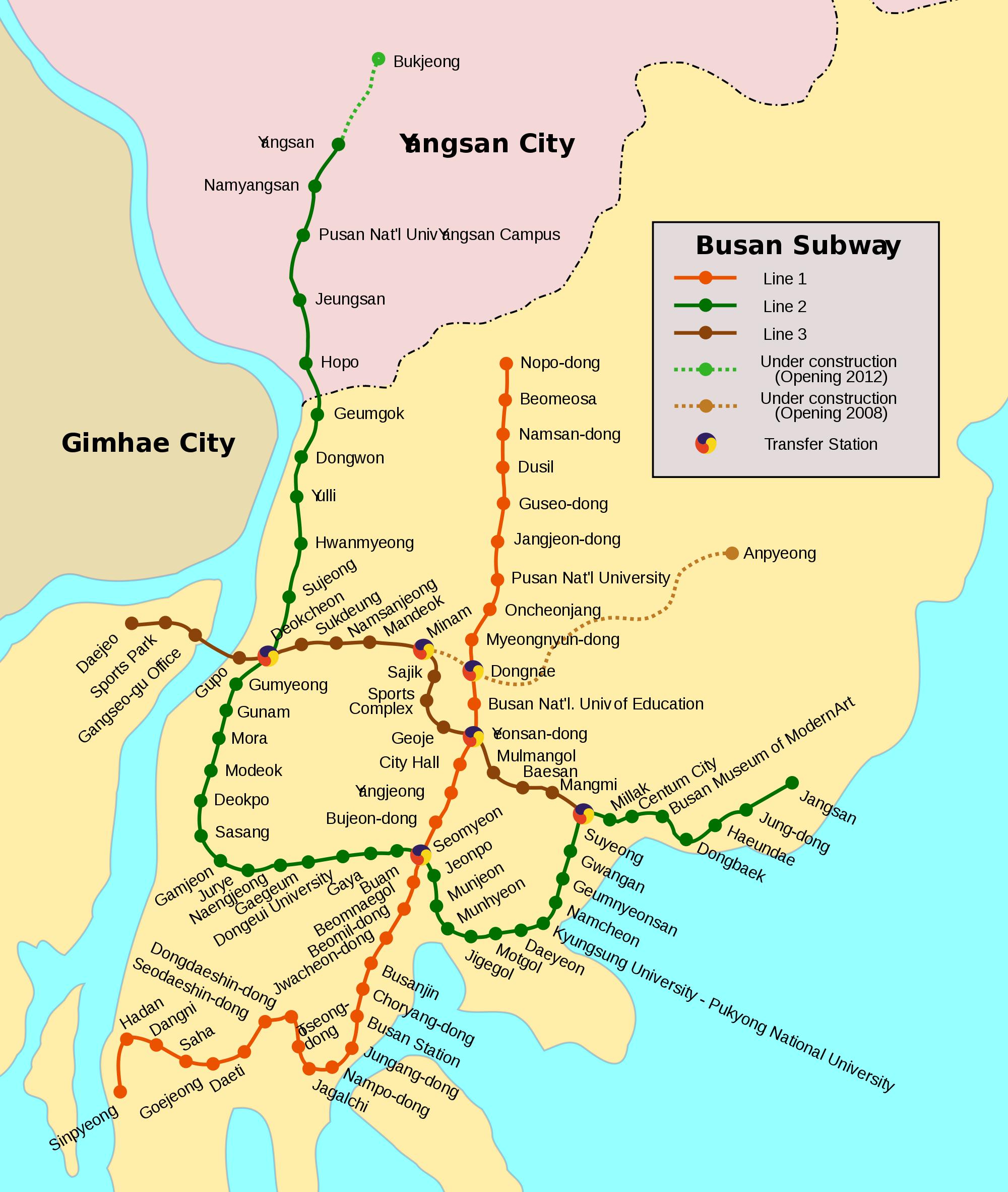U Bahn Von Busan U Bahn Sudkorea Und Verkehrsmittel