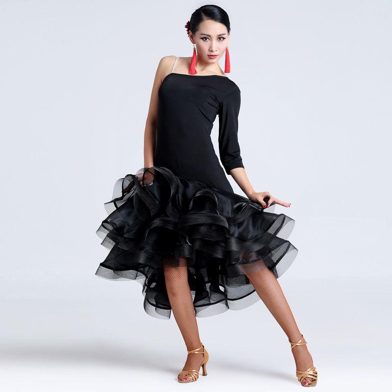 8bc27e786a89 ... Abiti da ballo di Silvia. Cheap Pannello esterno di ballo latino  nero/rosso/tiger dress lady per la danza