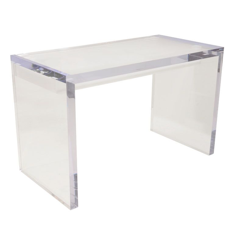 So Very Chic 1stdibs Magnificent Large Lucite Desk With Drawers