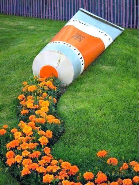 decoracion de patio y jardin creativo