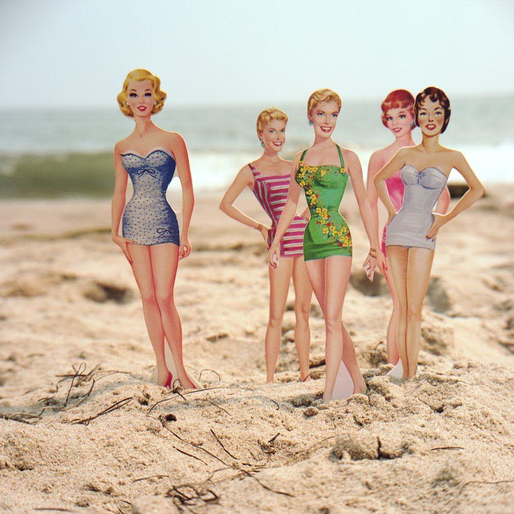 Aline Smithson - Beach Beauties #paper #doll #photo
