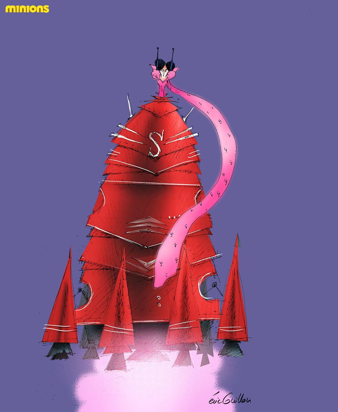 eric guillon: Scarlet Overkill. Rocket dress