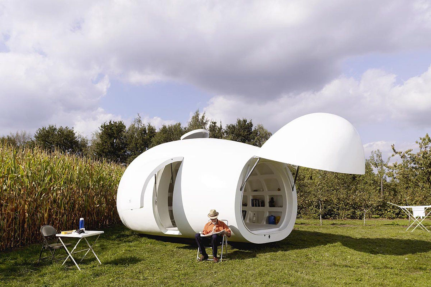 Created By DmA Architecten, And Appropriately Named Blob, This Unusual Tiny  Space Was Originally