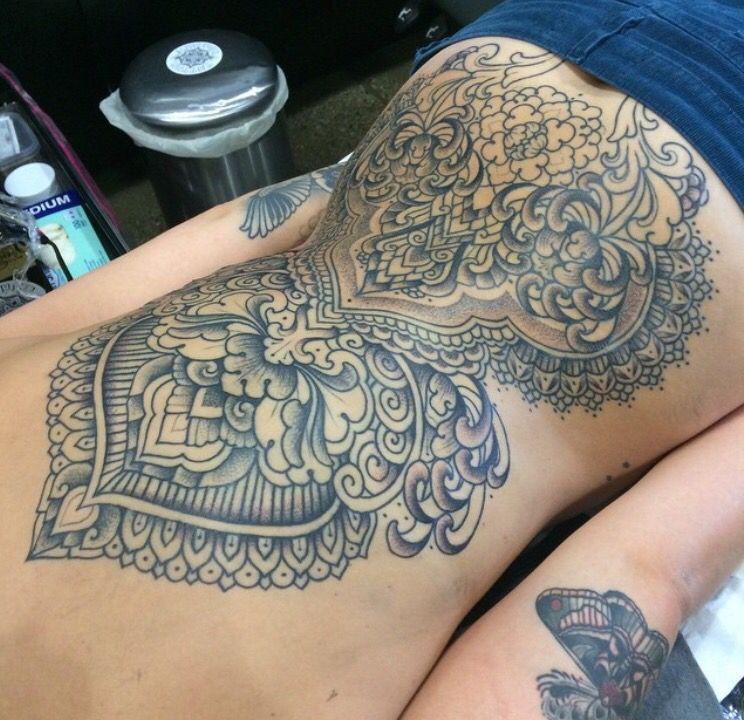 Super backpiece, love it | Tattoos, Back tattoo women ...