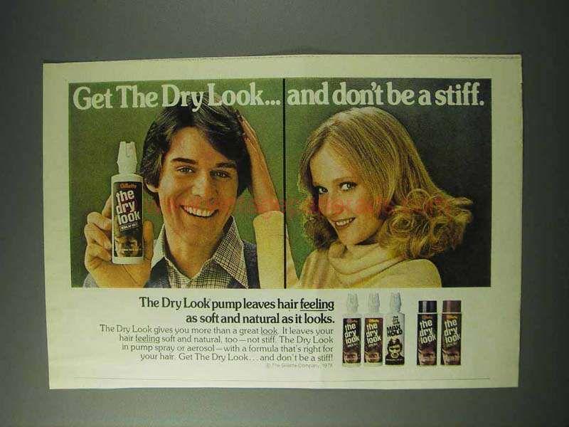 1978 Gillette The Dry Look Hair Spray Ad