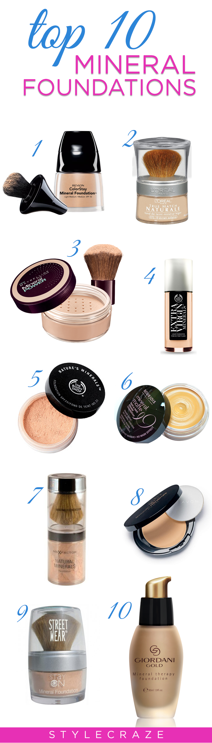 Best Mineral Foundations Our Top 10 Mineral makeup