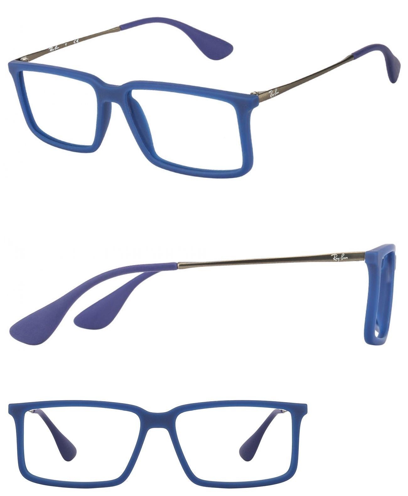 Fashion Eyewear Clear Glasses 179240: $390 Ray-Ban Mens Blue ...
