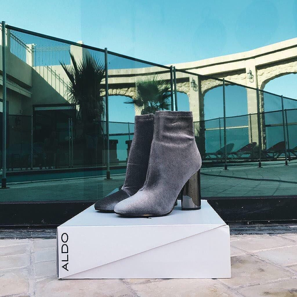 f8fd715f121b2 When your outfit needs a boost, grab this boot. Shop grey velvet Cassydie  in bio.
