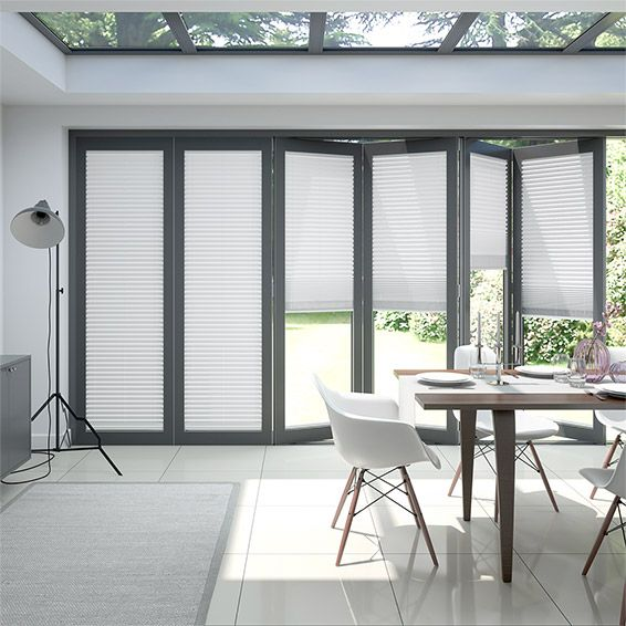 Bifold Clickfit Pure White Pleated Blind Blinds For