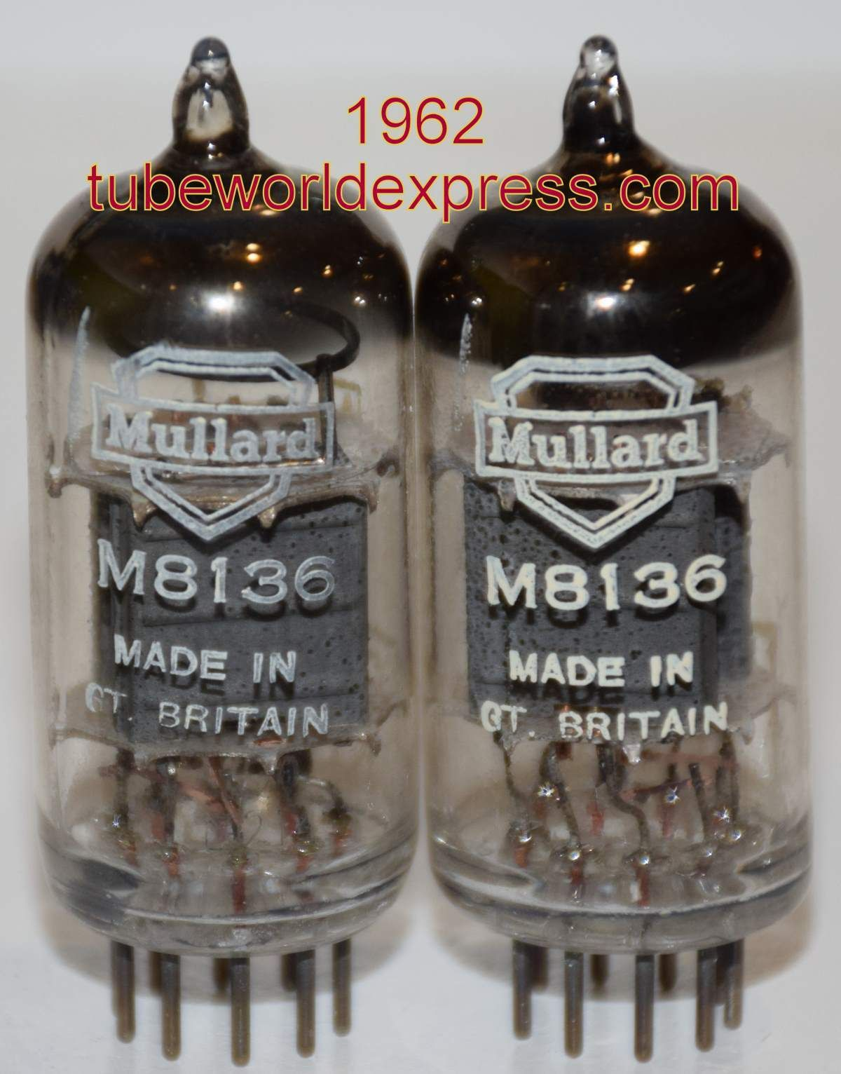 1 Cv4003 M8136 Pair Cv4003 M8136 12au7 Mullard Whyteleafe Pl Vintage Valve Plants Uk Tube