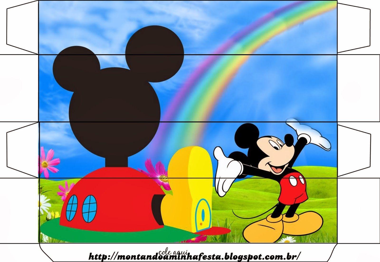 Casa De Mickey Cajas Para Imprimir Gratis Casa De Mickey Imprimibles Para Fiestas Gratis Baby Shower De Mickey Mouse