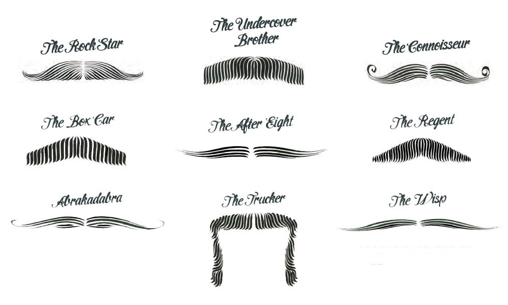 Movember Mustache Styles What\u0027s your moustache style?