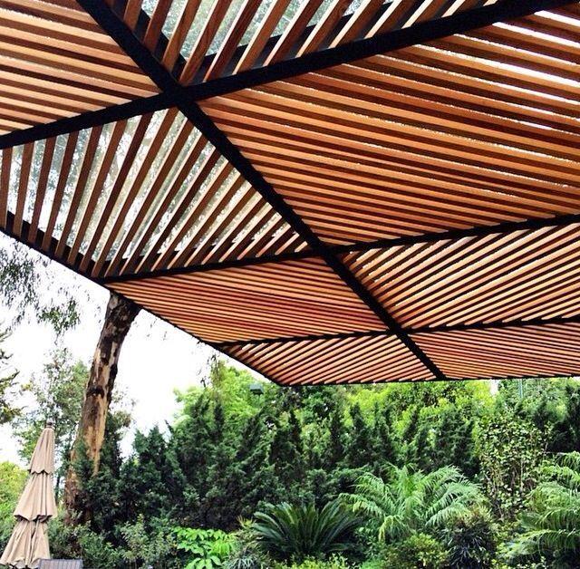 polycarbonate roof, pergolas, eaves: wooden iron polycarbonate ceilings #pergolapatio