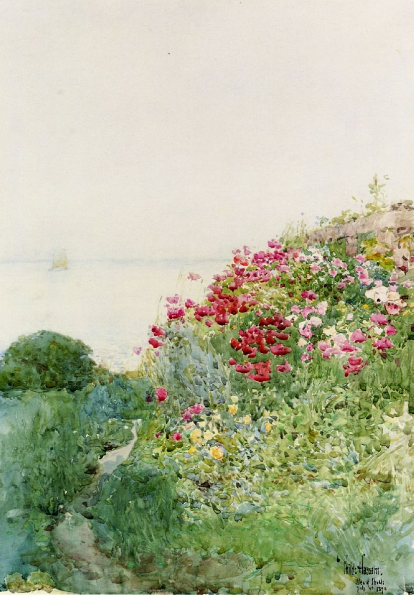 Details about hassam garden painting ceramic bathroom tile murals 2 - Field Of Poppies Isles Of Shaos Appledore Childe Hassam