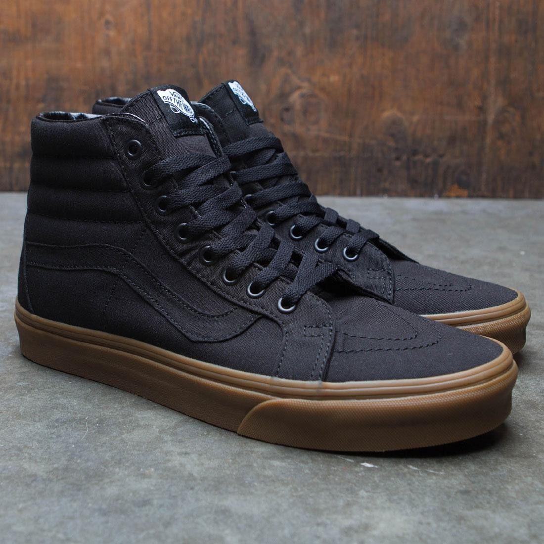 Vans Men Sk8 Hi Reissue Canvas Gum Black Sneakers Men Fashion Mens Vans Shoes Shoes Mens