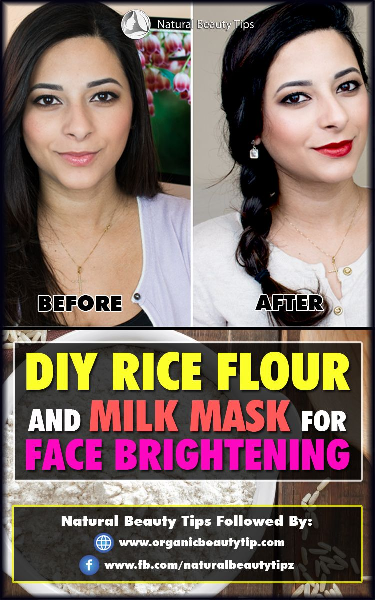 Diy rice flour and milk mask for face brightening with