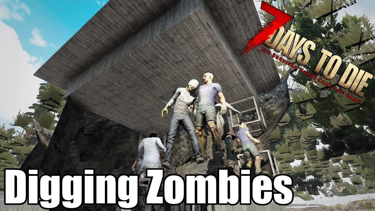 7 Days To Die Digging Zombies Animals How Well Can They Dig