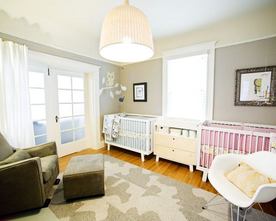 shared nursery and toddler room design, pictures, remodel, decor