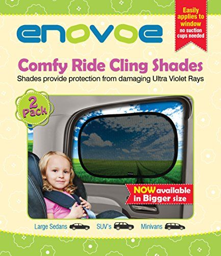 "4 Pack 21/""x14/"" Cling Sunshade for Car Windows Enovoe Car Window Shade"