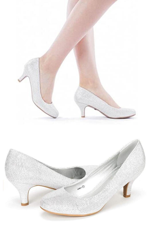 Women S Bridal White Wedding Party Low Heel Pump Shoes Wedding Shoes Heels Beach Wedding Shoes Wedding Shoes Low Heel
