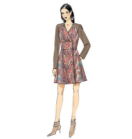 V9158, Misses' Top, Dress and Pants