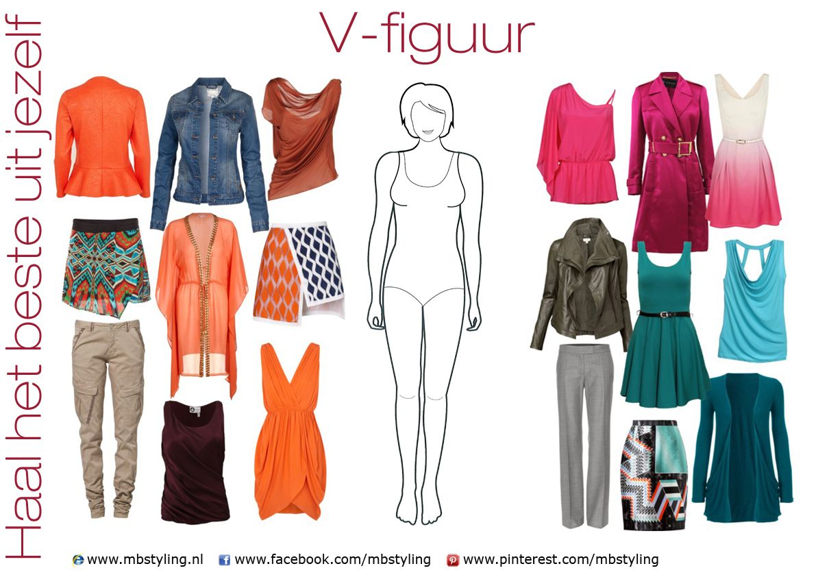 V figuur kleding