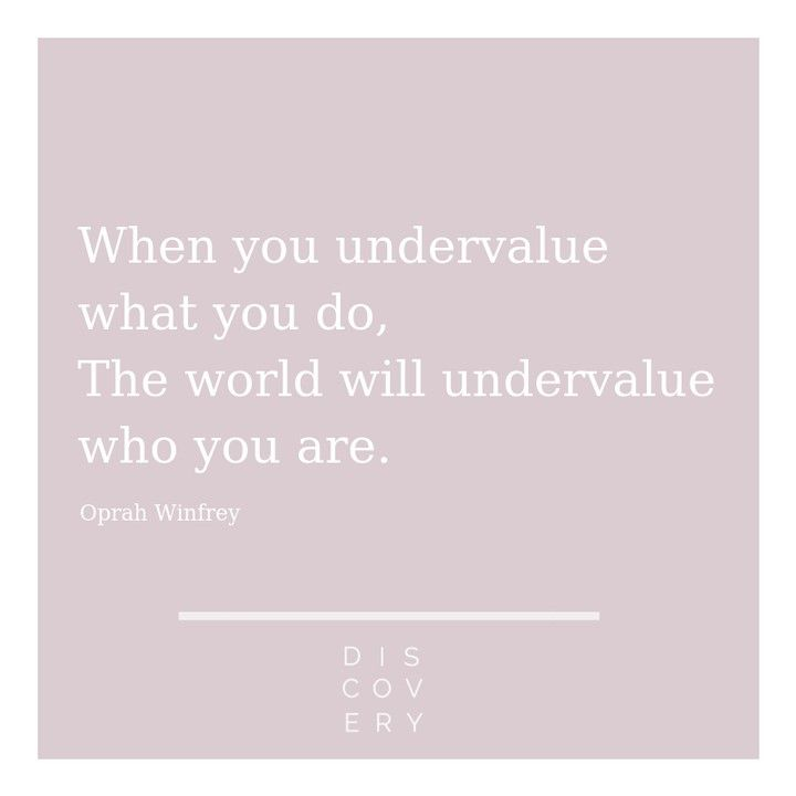 Oprah's words of wisdom.⠀⠀⠀⠀⠀⠀⠀⠀⠀ Don't undervalue what ...