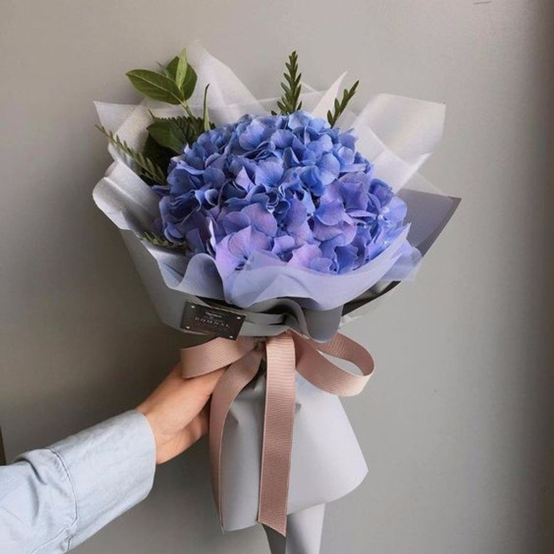 Korean Hydrangea Korean Hydrangea Fabricflowerideas Flowerideascraft Flowerideasforinside Flowe Flowers Bouquet Gift Flowers Bouquet How To Wrap Flowers