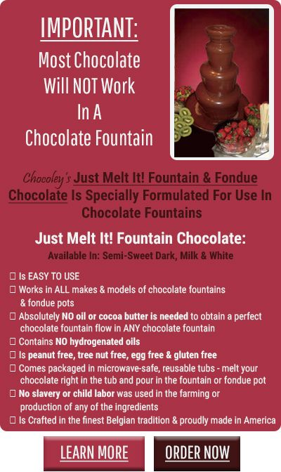 Chocolate Fountain Tips & Tricks | Just Melt It | Chocoley.com