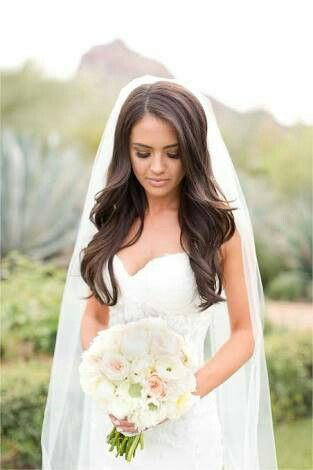 All Down Bridal Hair Soft Beach Waves Bride Hairstyles With