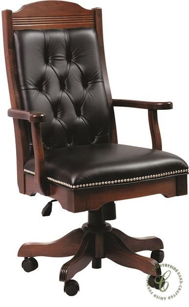 Fairfax Leather Executive Desk Chair Countryside Amish Furniture Luxury Office Chairs Office Chair Design Chair Design Wooden
