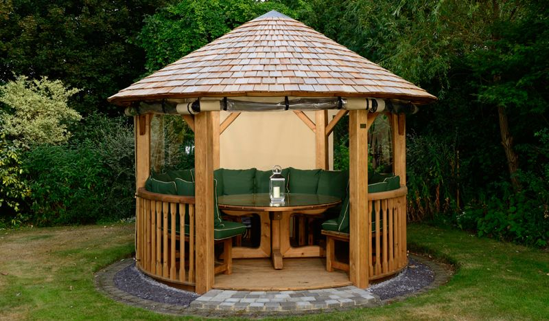 Edward Redwood Gazebo  Hand Built To Exacting Standards The Crown Edward Is  A Gorgeous