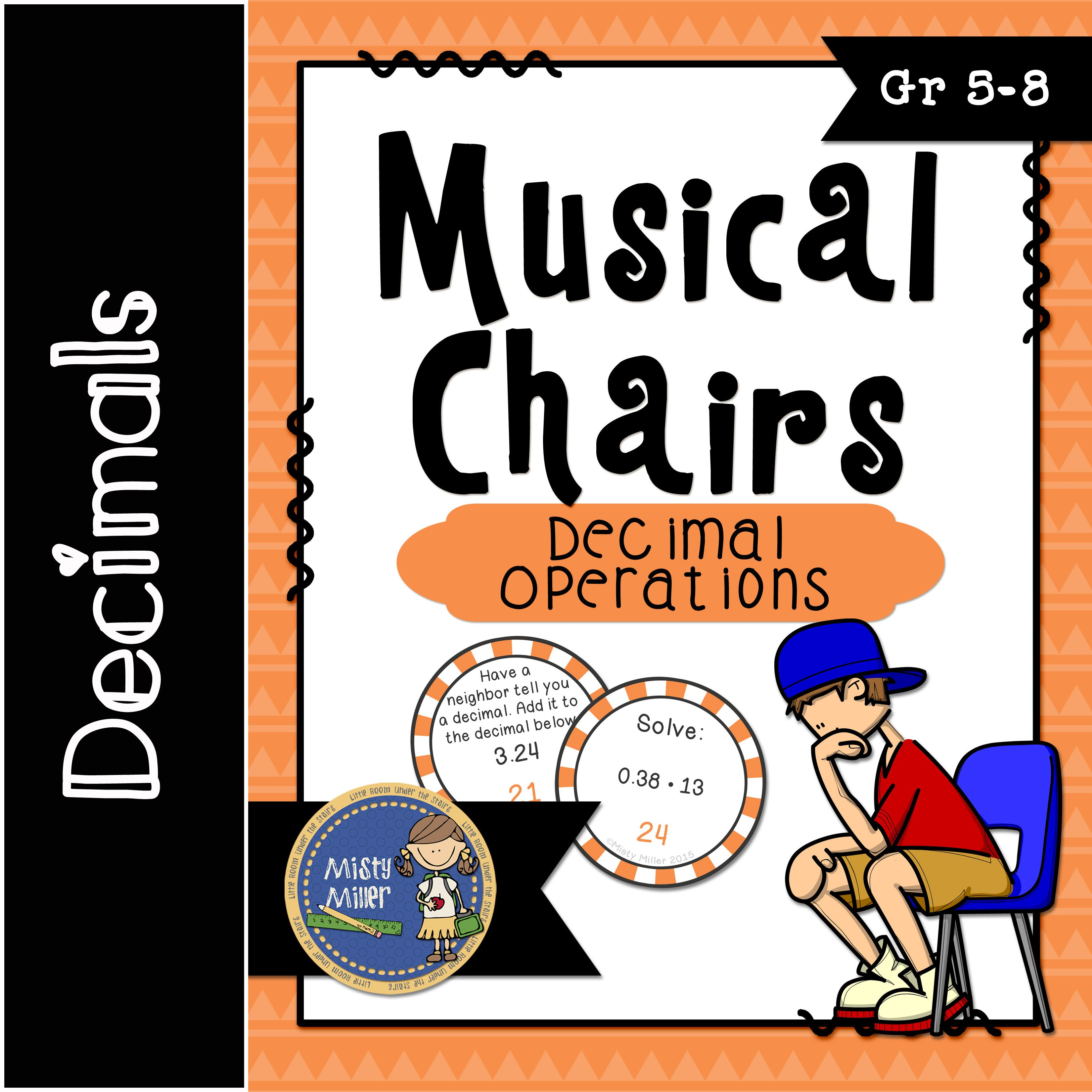 Decimal Operations Musical Chairs