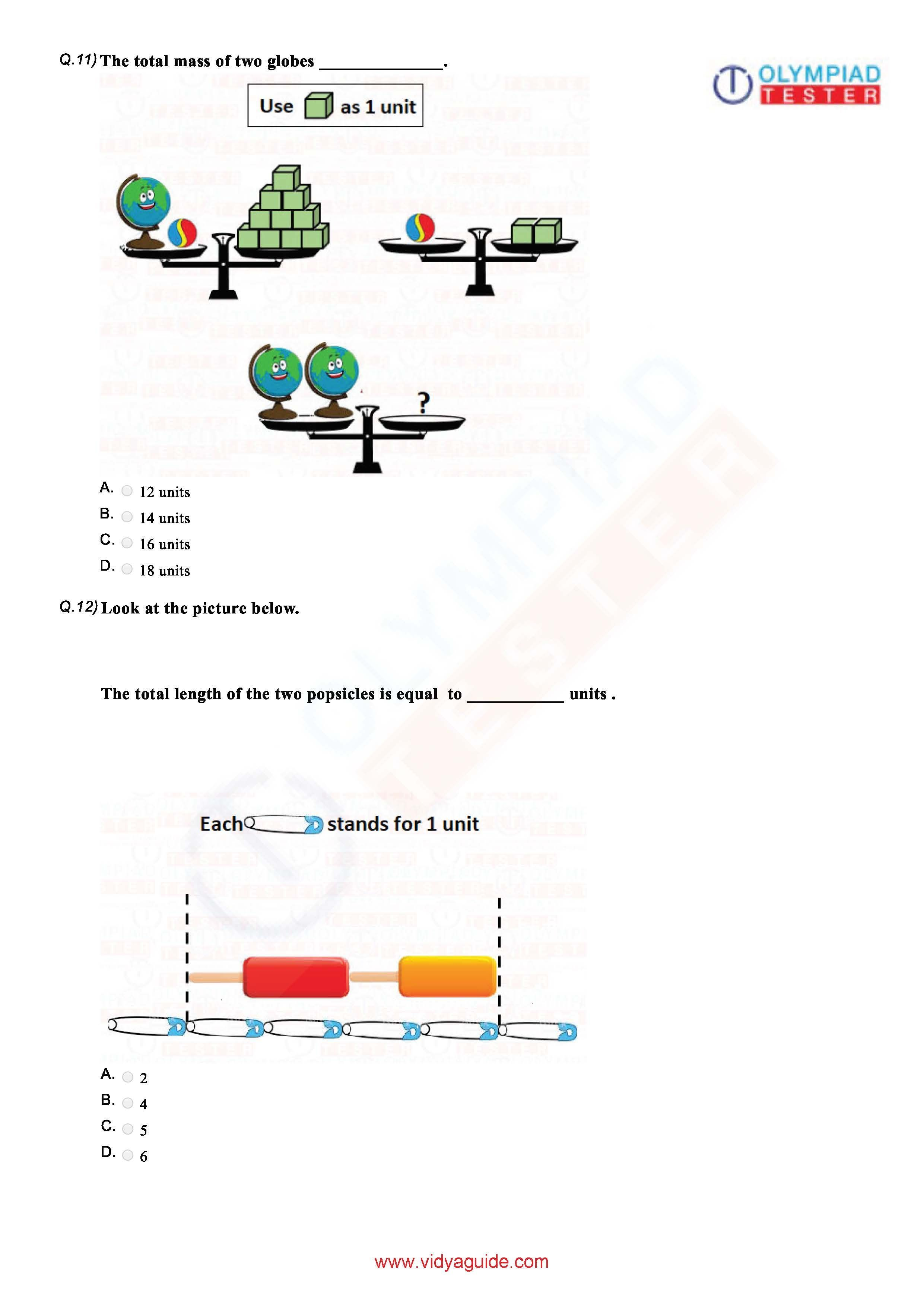 Download Grade 1 Maths Olympiad Printable Worksheets And